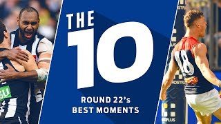 The 10: Best moments from Round 22 | 2018 | AFL