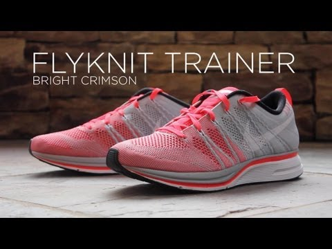 best value 994e0 553c8 Review  Nike Flyknit Trainer - Bright Crimson