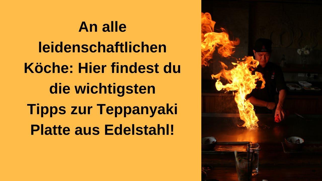 Teppanyaki Platte Aus Edelstahl Youtube