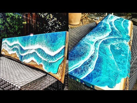 Epoxy Resin BIGGEST NY CITY RIVER Table MAKING PROCESS 10 IDEAS WOODworking projects