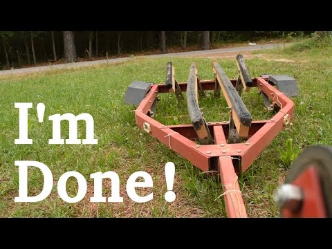 I'm Done | Harbor Freight Boat Trailer | Follow Up