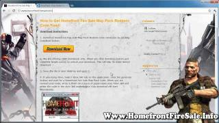 Homefront Fire Sale Map Pack Free Downlaod on Xbox 360 / PS3