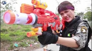 Nerf War ToysReview Unboxing - Superhero Action Of Baby Gombal Cukorka Gyerekek  ✪ 428