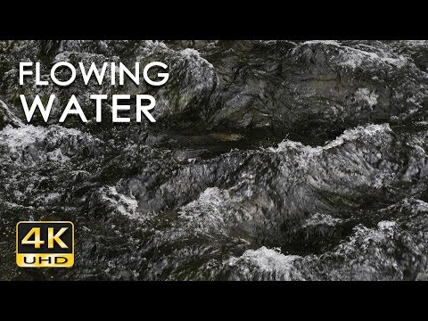 4K Flowing Water - Relaxing River Sounds - Mountain Stream - 10 Hours - Relax/ Sleep/ Study/ Yoga