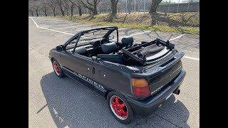For sale 1992 Daihatsu mira convertible Spider Leeza L111s-500159 Japanese keicar jdm...