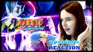 ALL NARUTO SHIPPUDEN OPENINGS REACTION