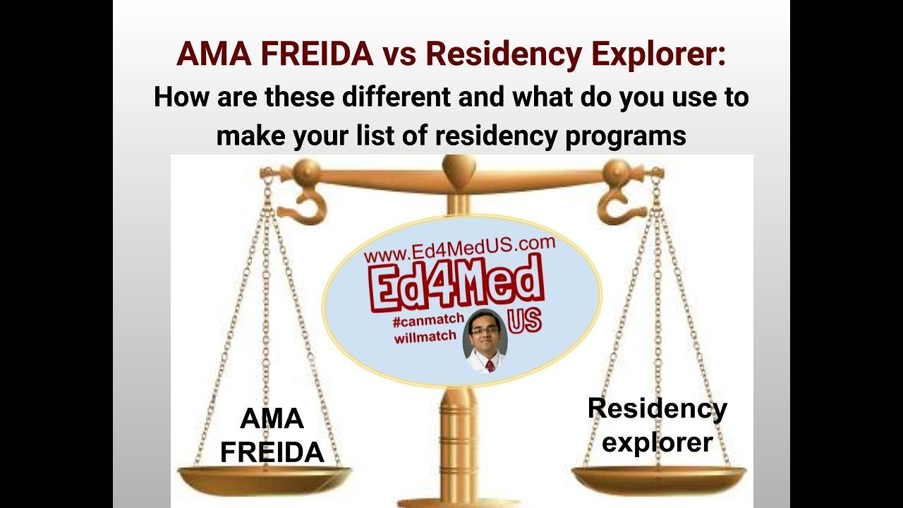 Download FREIDA vs Residency Explorer: Which FREE database should you use to decide the Programs to Apply to?