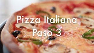 Pizza Italiana Paso 3 - Cómo hornear la pizza en casa - Horno Eléctrico