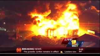 INSANE FIRE from the Baltimore Riot 2015