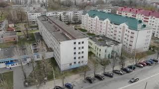 Общежитие на ул.Заслонова в Солигорске.  Аэросъемка-1
