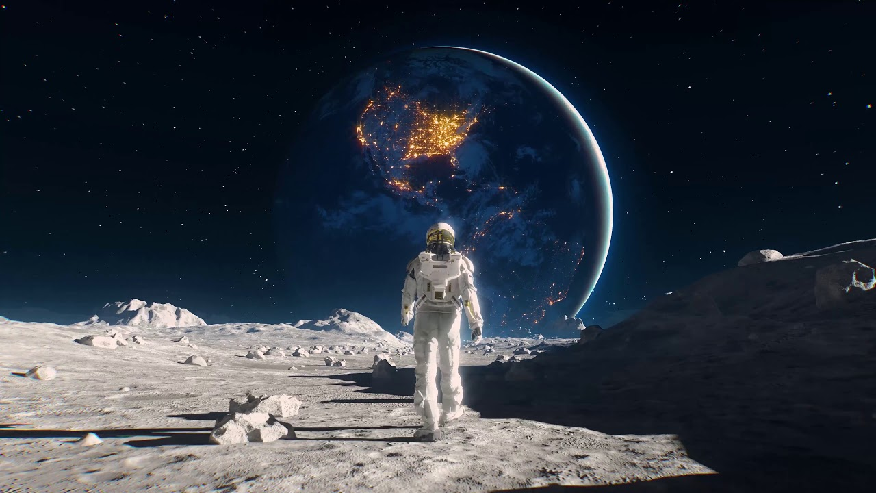 Spaceman Walking Home 4k Live Wallpaper Xanh Share Youtube