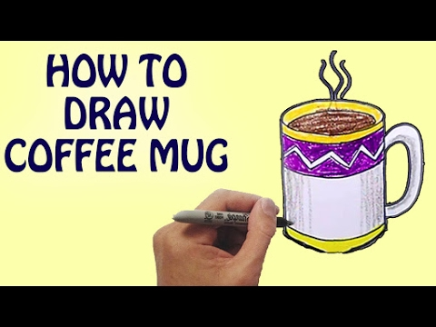 how to draw a coffee mug for kids step by step drawing lessons for kids