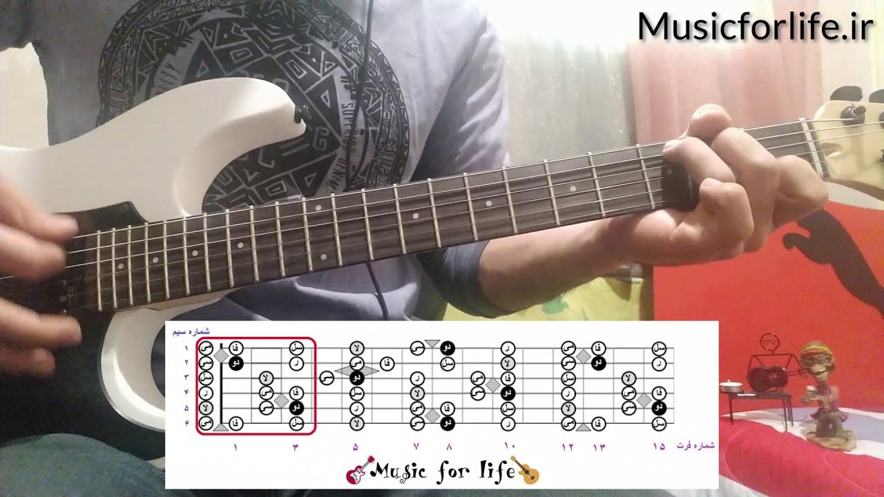 آموزش گیتار - سیستم سه نت روی هر سیم