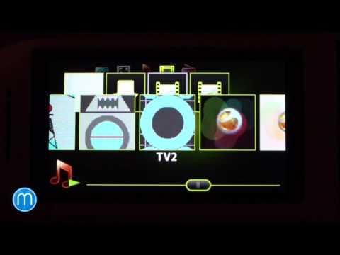 Sony Ericsson Aino - menu landscape
