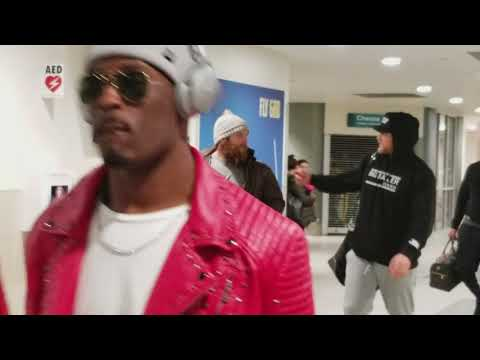 Green Bay Packers players after the 2017 season finished landing at Austin-Straubel airport in GB