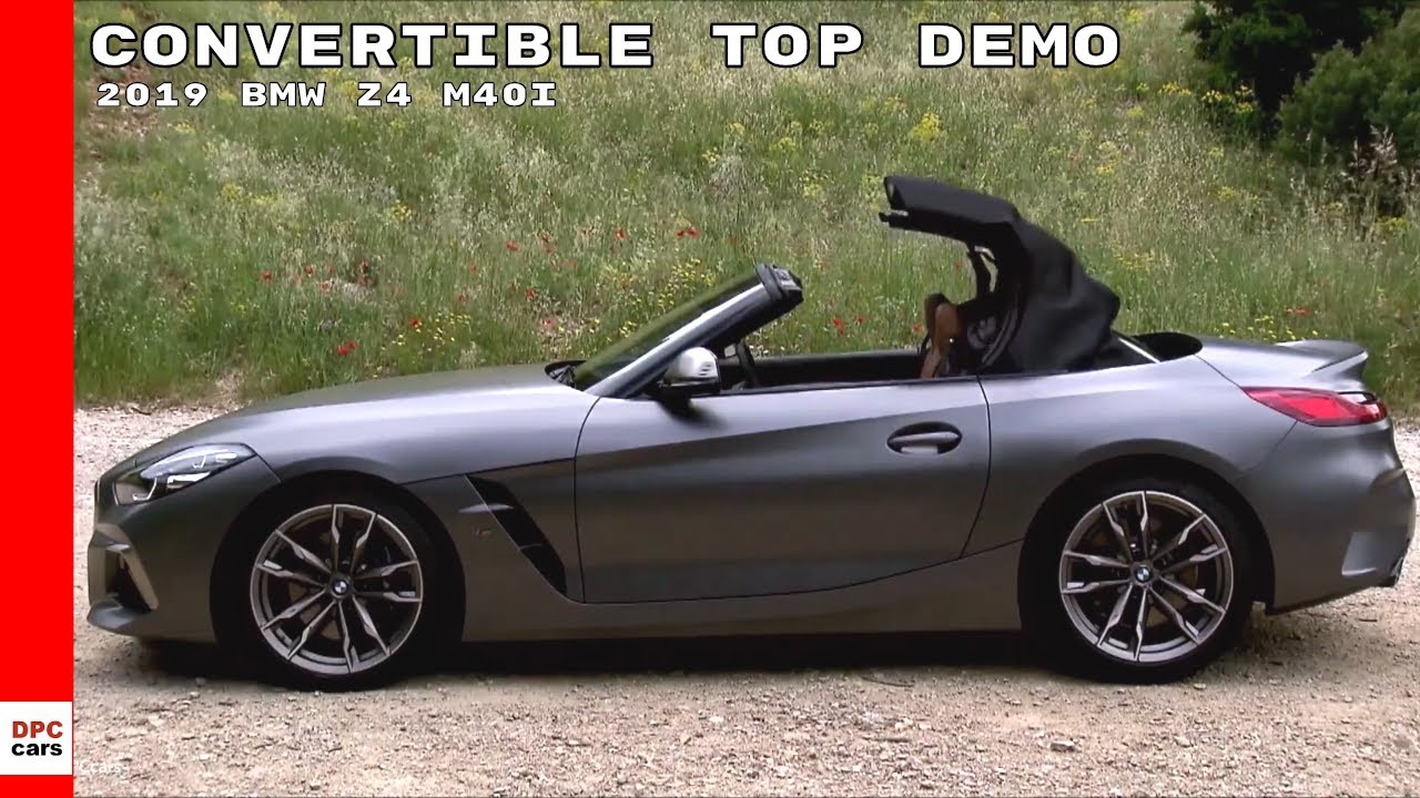 2019 Bmw Z4 M40i Convertible Top Operation Demo