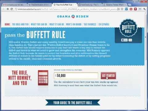 Obama's Buffett Rule Trickery