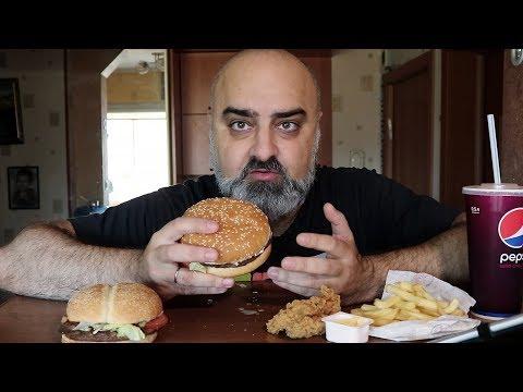 ОБЖОР!!! BK и KFC   ПЯТОЕ ПРИШЕСТВИЕ ЭММАНУИЛА   Жру.ру#182   MukBang ASMR Eating Slurp   АСМР