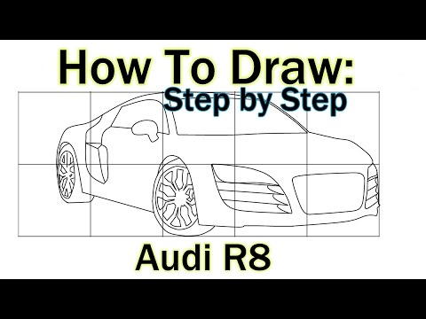 How To Draw an Audi R8 | Drawing Tutorial | Step by Step Lesson