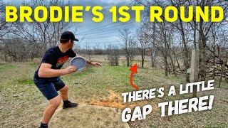 Brodie Smith's 1st Round of Disc Golf (18 holes)
