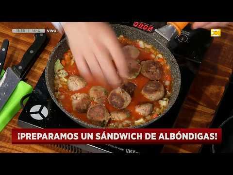 """<h3 class=""""list-group-item-title"""">Receta de sándwich de albóndigas (parte 3) en Hoy Nos Toca a las Diez</h3>"""