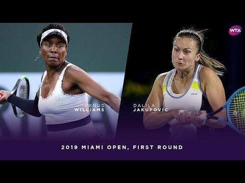 Venus Williams vs. Dalila Jakupovic | 2019 Miami Open First Round | WTA Highlights