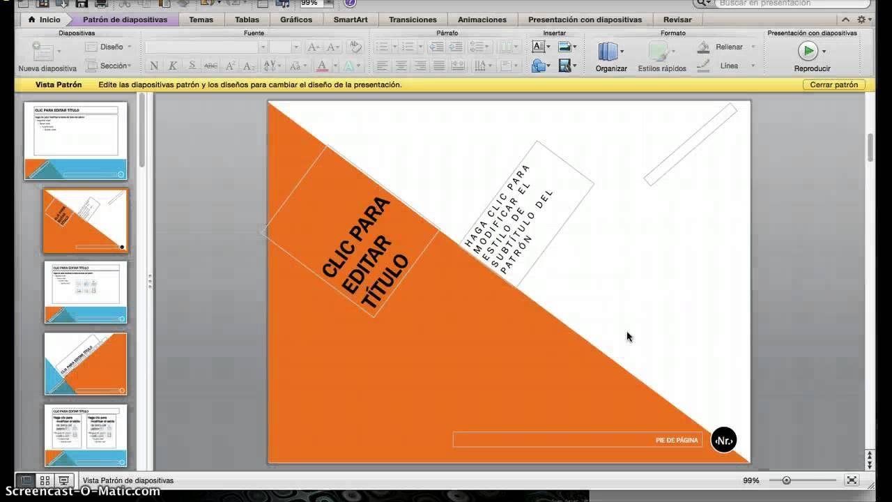 powerpoint - modificar patr u00f3n de diapositivas