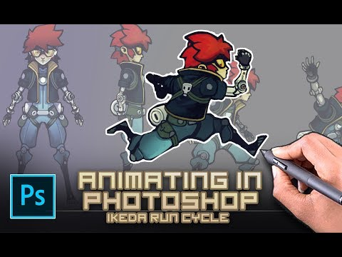 Animating In Photoshop (for Indie Games) - Ikeda 8 Frame Run Animation Challenge.