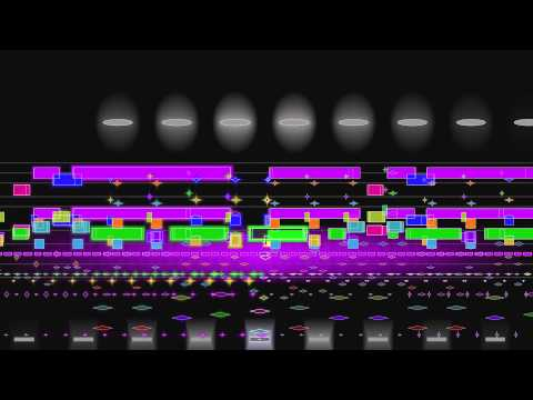 Stravinsky, Rite of Spring (complete), animated graphical score