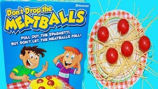 Fun Kids Toy Game Don't Drop The Meatballs Family Fun Challenge Baby Alive Doll Videos