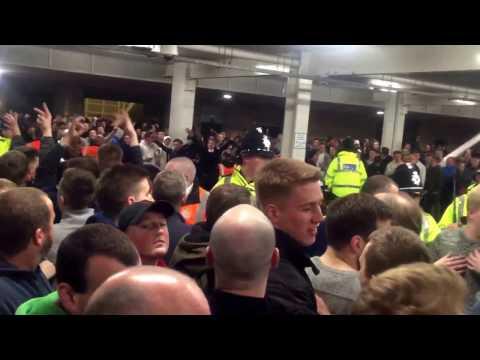Newcastle 1 Leeds 1 - 14/4/17 - FT scenes Part 1