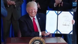 Trump Signs Vet Bill -Full Speech