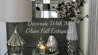 Decorate With Me | Glam Fall Entryway Decor