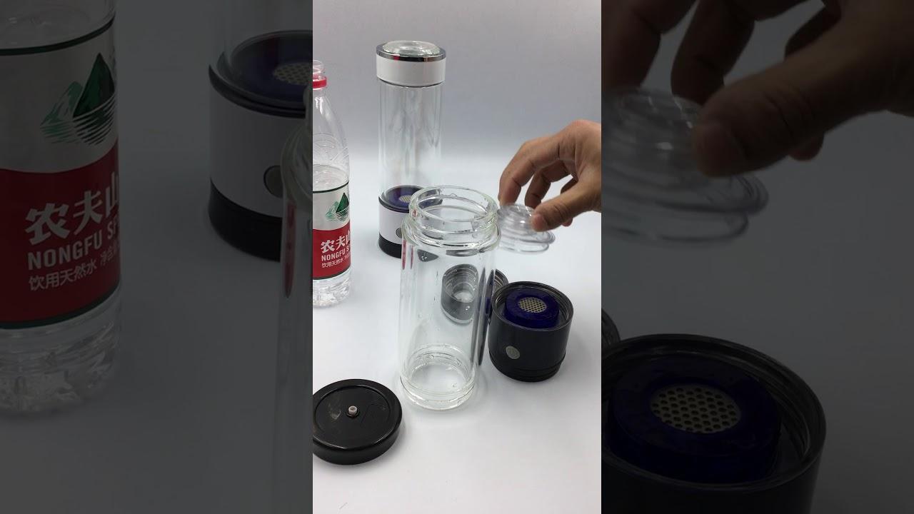AlkaVoda NEW SPE PEM hydrogen generator water bottle AOA-400C - Review