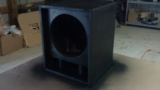 Guitar Speaker Cabinet Time Lapse Build Thiele Design