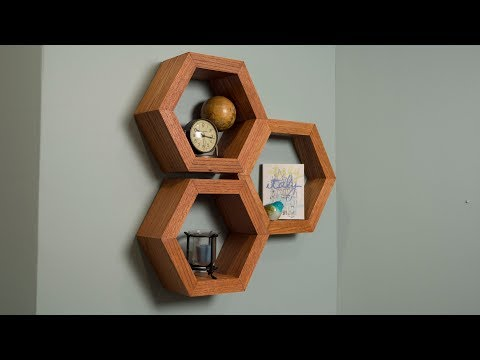 How to Build Hexagon Shelves - Saturday Morning Workshop