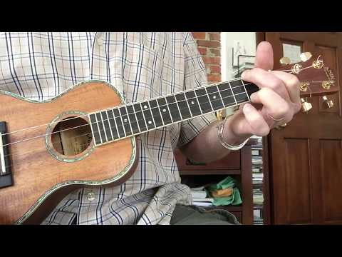 Ring of fire ukulele, tutorial, keys of C and A with melody riff