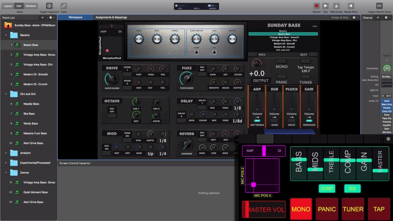 Bass Rig- Sunday Bass MainStage template by Sunday Sounds ...