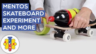 Mentos Skateboard Experiment And More | Amazing Science Experiments | Lab 360