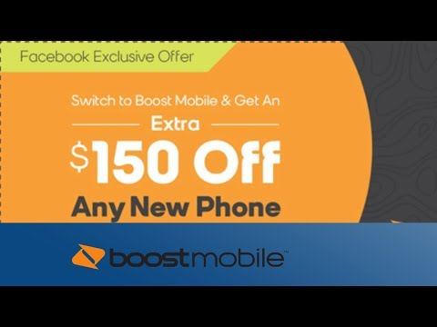 $150 OFF Any Smartphone// Facebook Coupon Promotion Boost Mobile