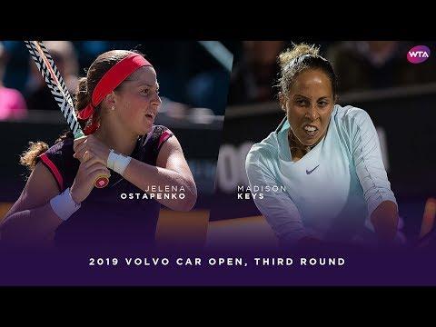Jelena Ostapenko Vs. Madison Keys   2019 Volvo Car Open Third Round   WTA Highlights