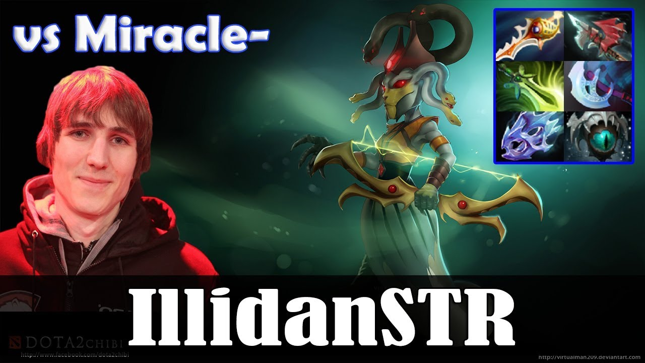 Illidan Medusa Mid Vs Miracle Lina Dota  Pro Mmr Gameplay