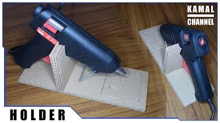 Stay subscribe and rate this video. ☆How to make simply HOT GLUE GUN HOLDER. Step by step, from CARDBOARD. ☆Check