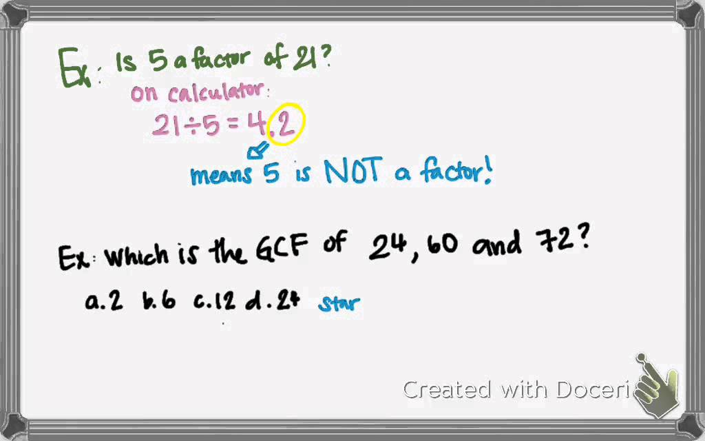 Ex: factor and solve quadratic equation greatest common factor +.