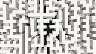 So I trapped my minecraft friend in a mirror maze...