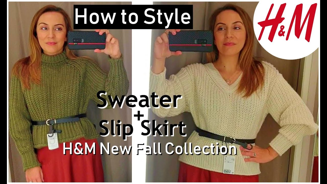 [VIDEO] - HOW TO WEAR A SWEATER AND A SLIP SKIRT FOR AUTUMN+H&M NEW FALL COLLECTION 1