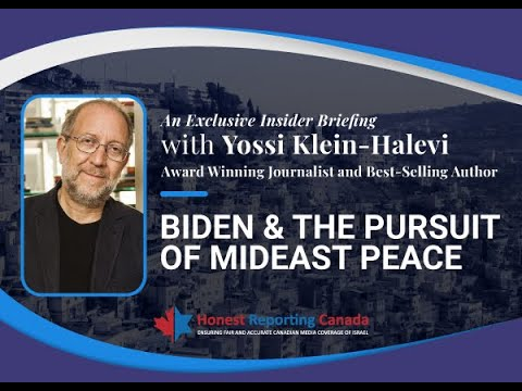 HRC Webinar with Yossi Klein-Halevi: Biden and The Pursuit of Mideast Peace