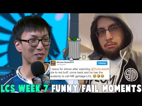 LCS WEEK 7 FUNNY/FAIL MOMENTS - 2017 Spring Split