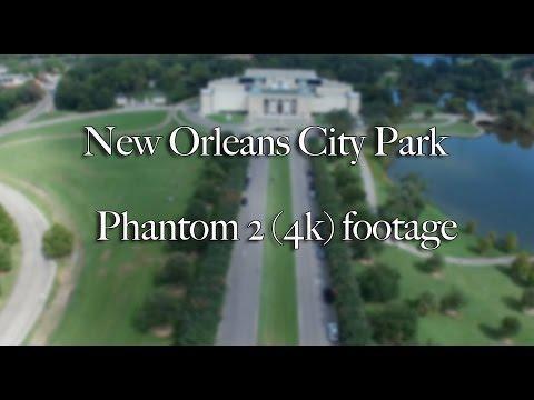 New Orleans City Park, Louisiana from above. Phantom 3 (4k)