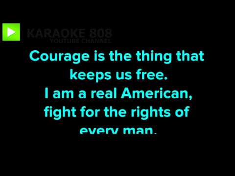 Real American ~ Rick Derringer Karaoke Version ~ Karaoke 808